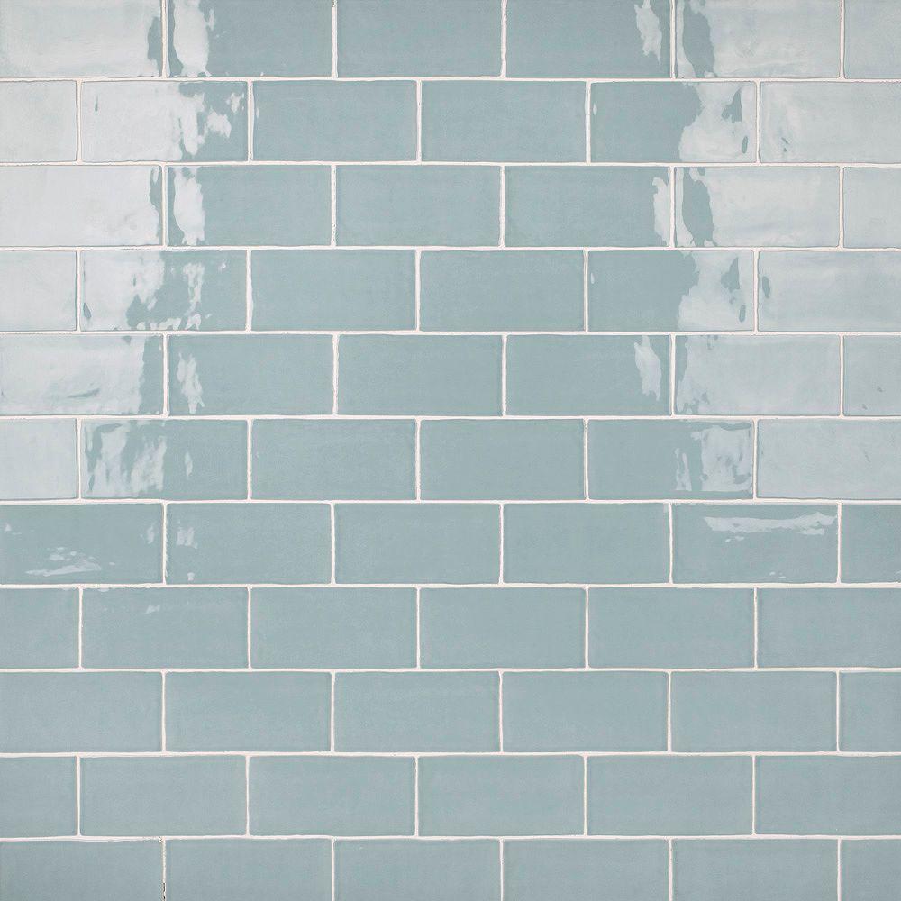 Merola Tile Castillo Sky 3 in. x 6 in. Ceramic Subway Wall Tile (5.67 sq. ft. / case)