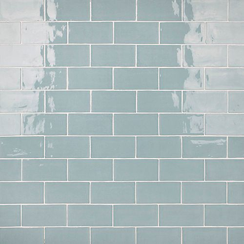Castillo Sky 3 in. x 6 in. Ceramic Subway Wall Tile (5.67 sq. ft. / case)