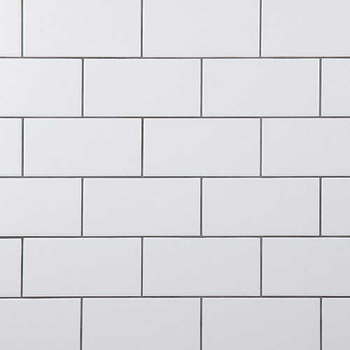 Crown Heights 3-inch x 6-inch Ceramic Matte White Wall Tile (6.03 sq. ft. / case)