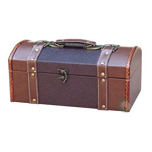 Dresser Valet Leather Chest with Velvet Lining