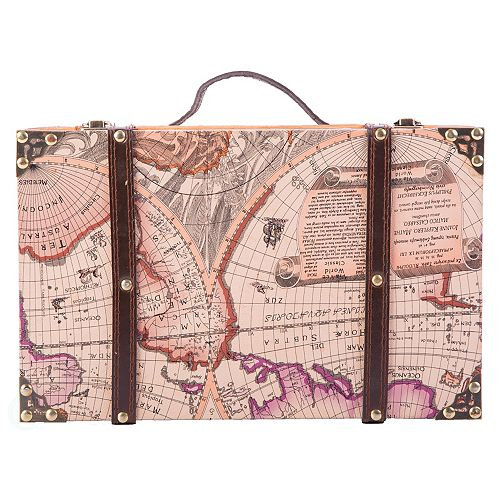 Old World Map Suitcase