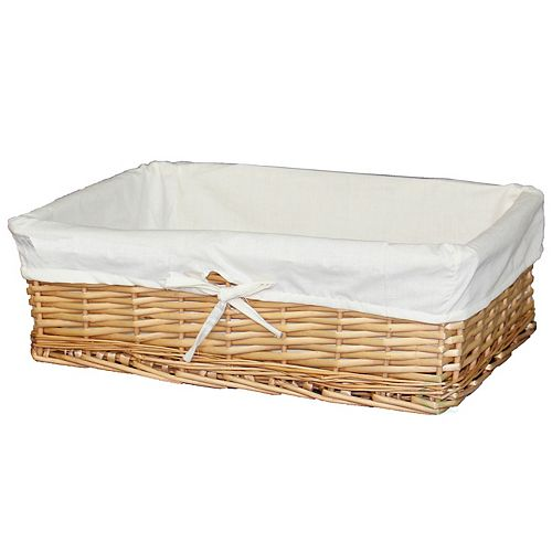 Large Willow Basket with Fabric Lining