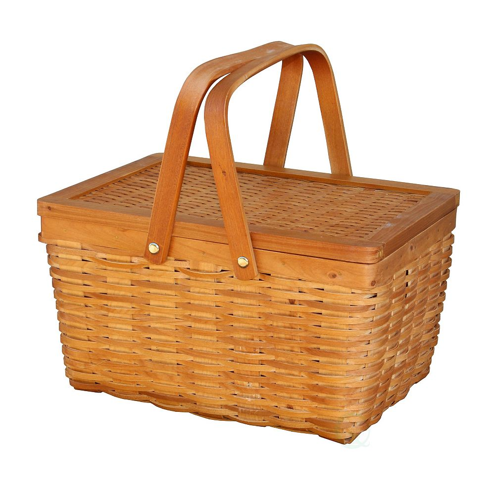 Vintiquewise Woodchip Basket - Small