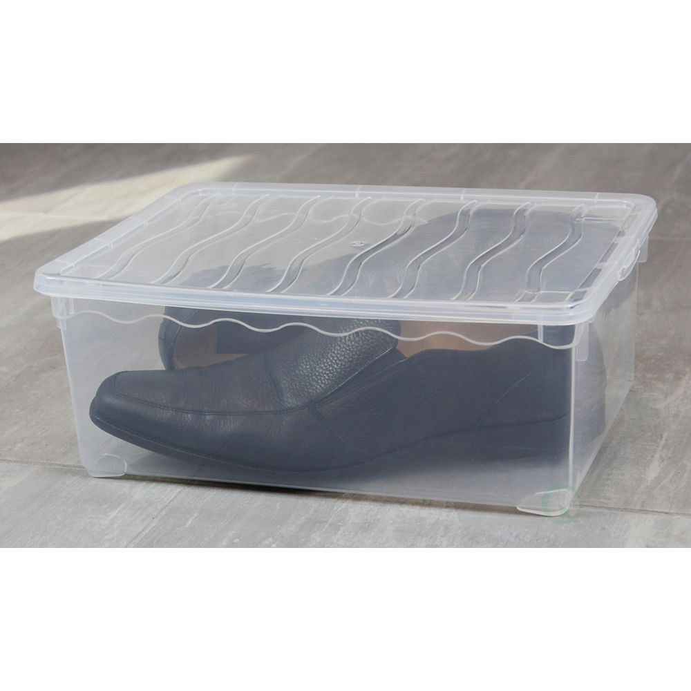 Basicwise Plastic Storage Container, Shoe box
