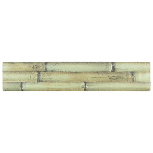 Merola Tile Bamboo Albufera Verde 4-inch x 19-3/4-inch Ceramic Wall Tile (8.7 sq. ft. / case)