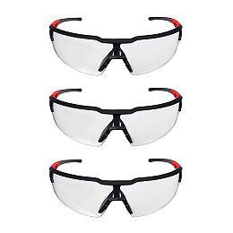 Lunettes de sécurité avec verres clairs anti-buée (pack de 3)