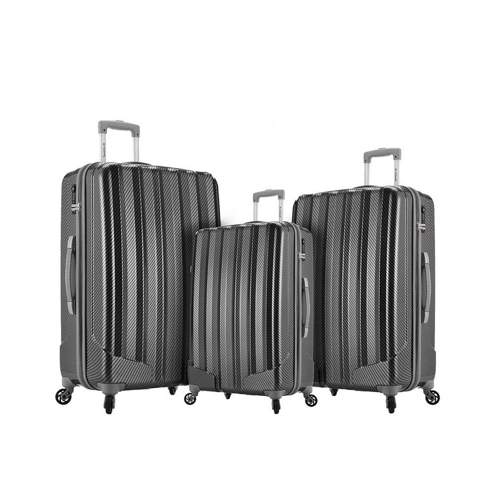 Rockland Barcelona 3 Hardside Luggage Set, Black