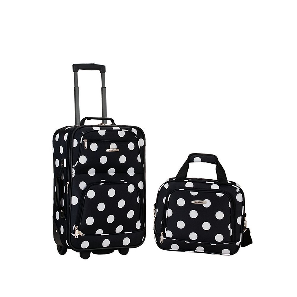 Rockland Rio Softside 2Pc Carry-on Luggage, Blackdot