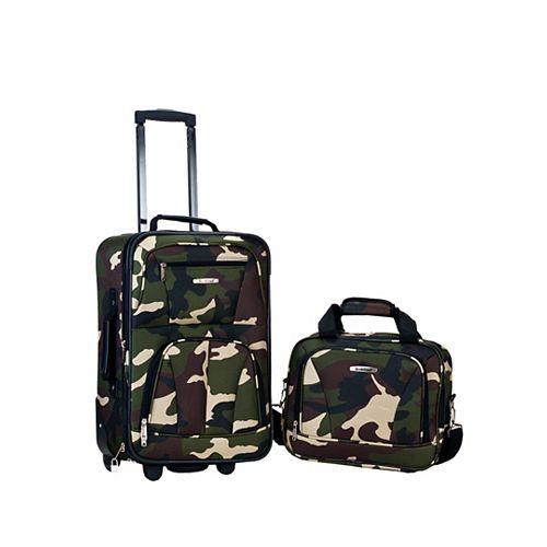 Rio Softside 2Pc Carry-on Luggage, Camo