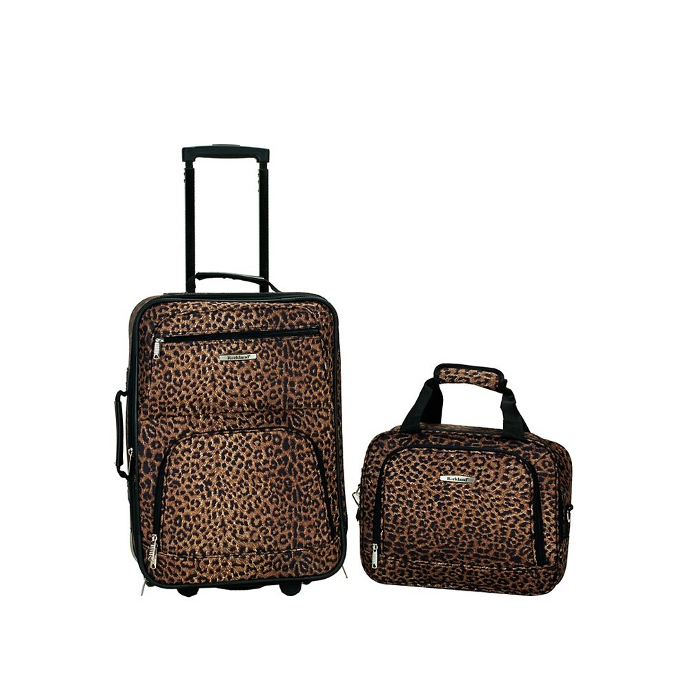 Rockland Rio Softside 2Pc Carry-on Luggage, Leopard