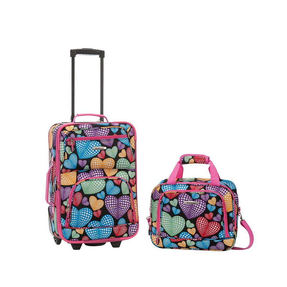 Rockland Rio Softside 2Pc Carry-on Luggage, Newheart