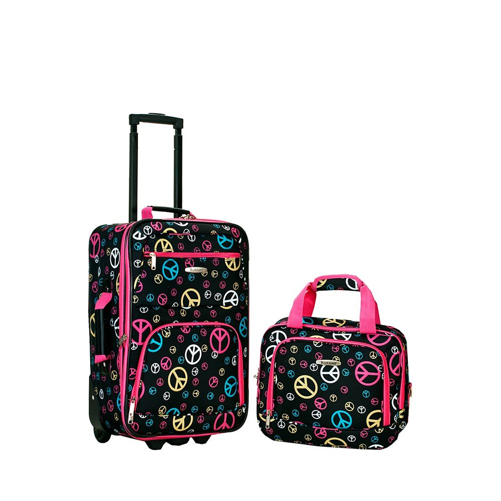 Rockland Rio Softside 2Pc Carry-on Luggage, Peace