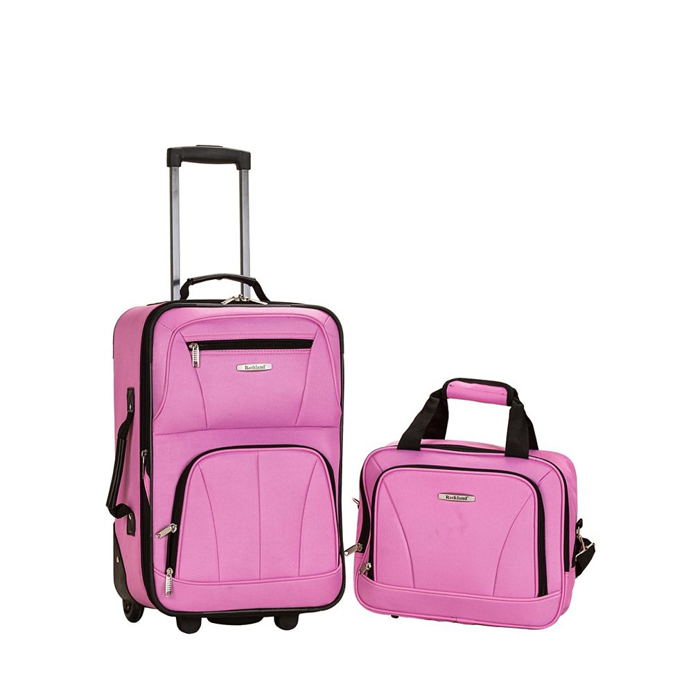 Rockland Rio Softside 2Pc Carry-on Luggage, Pink