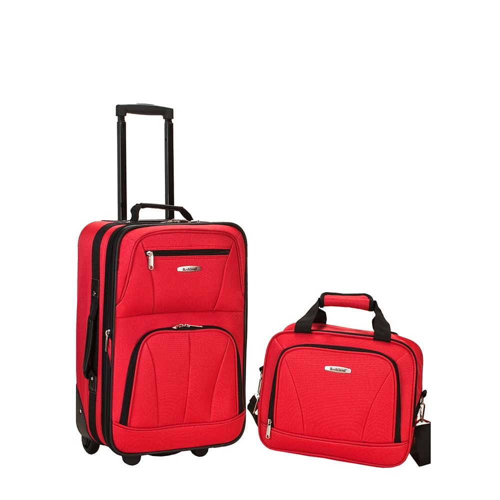 Rockland Rio Softside 2Pc Carry-on Luggage, Red