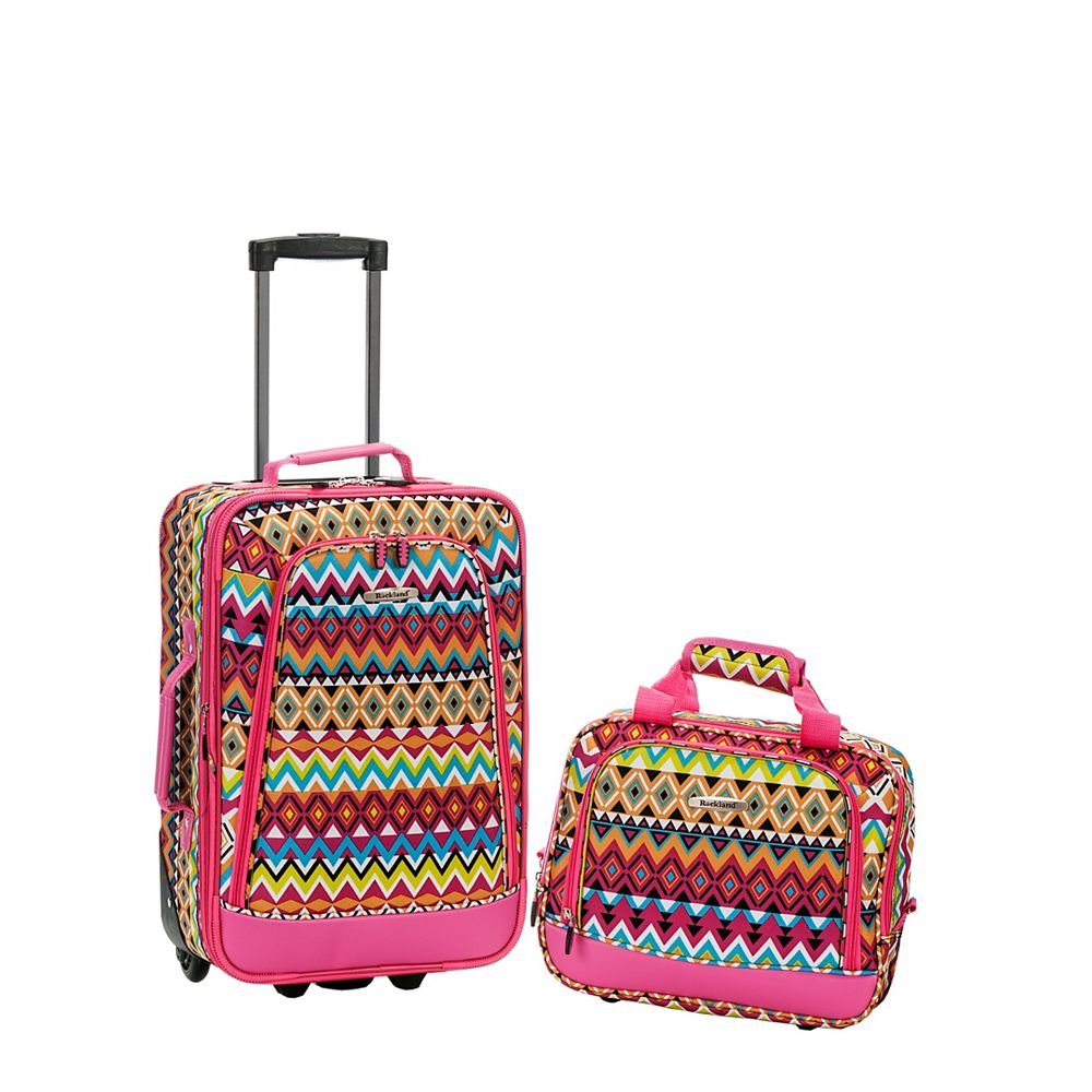 Rockland Rio Softside 2Pc Carry-on Luggage, Tribal