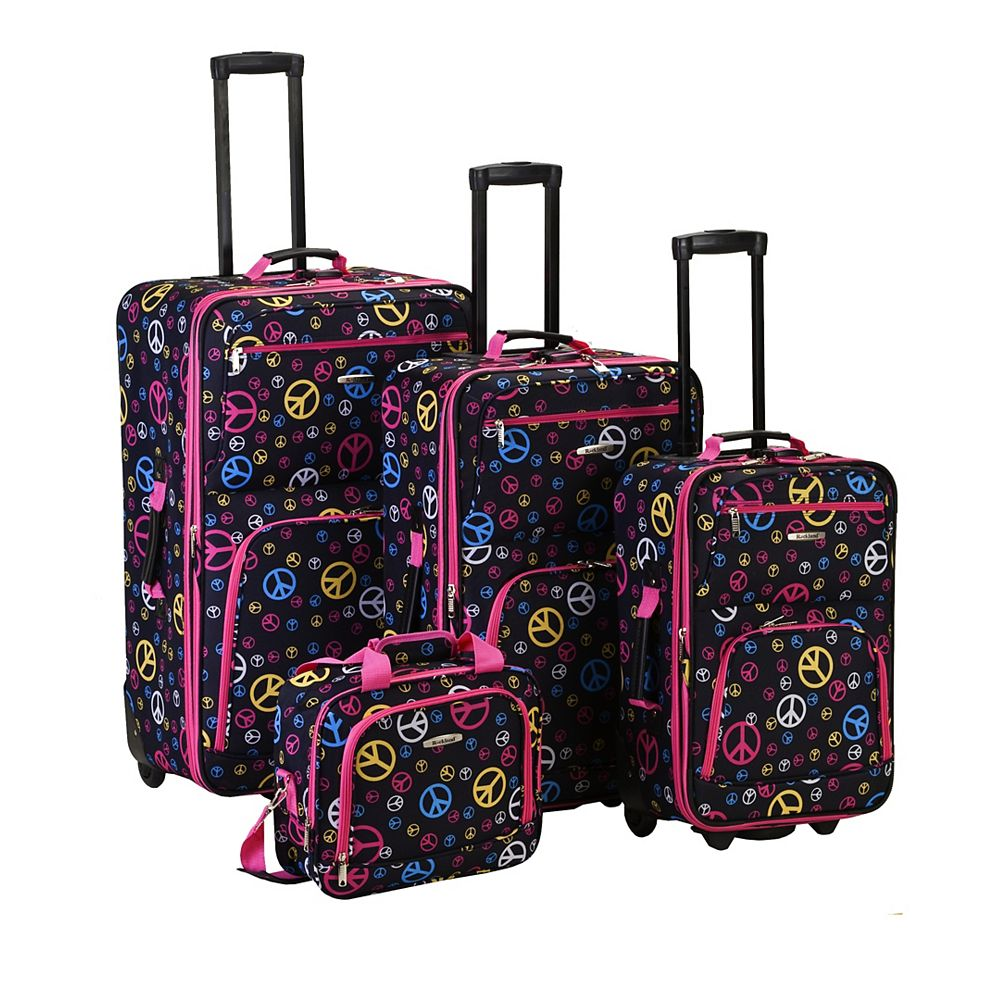 Rockland Deluxe Softside Luggage Set, Peace