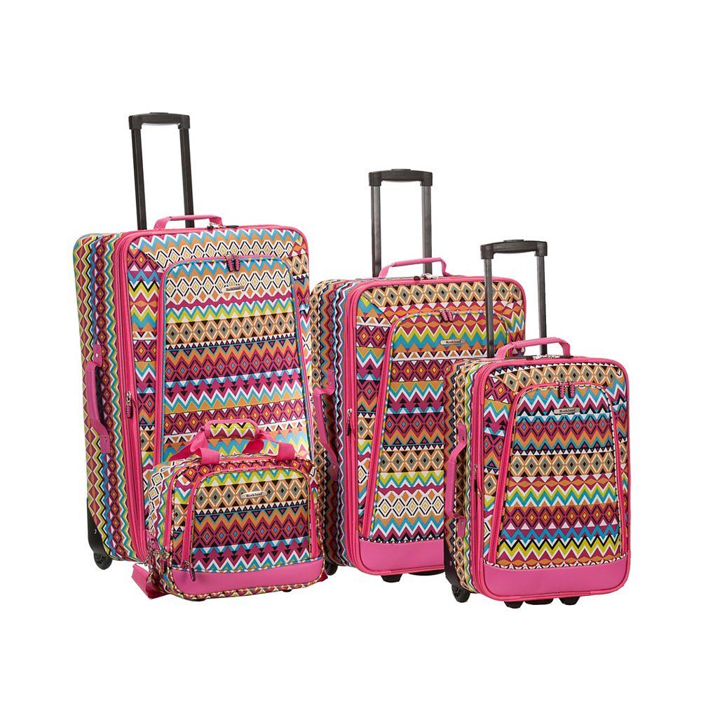 Rockland Deluxe Softside Luggage Set, Tribal