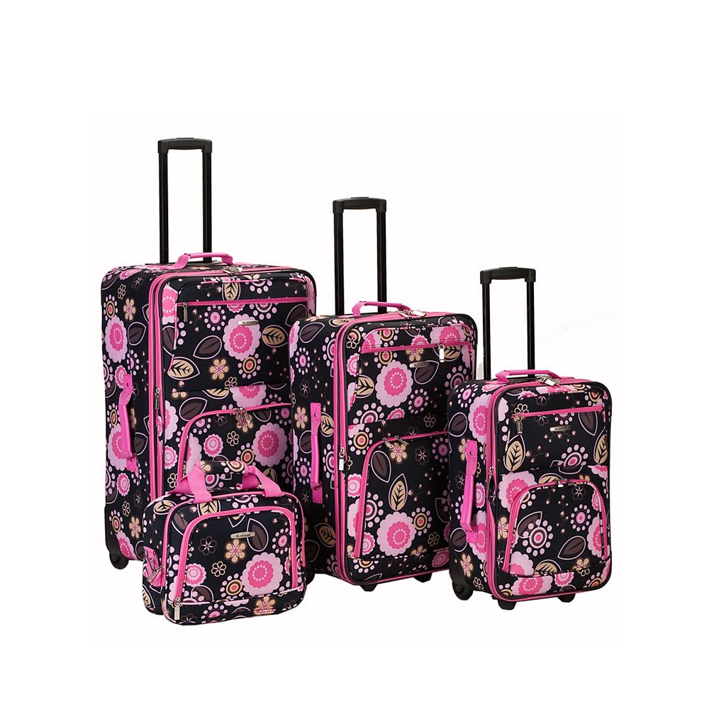 Rockland Deluxe Softside Luggage Set, Pucci