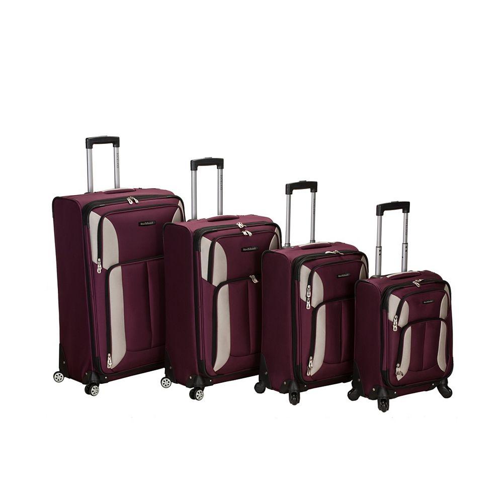 Rockland Imapct Spinner Softside Luggage Set, Burgundy