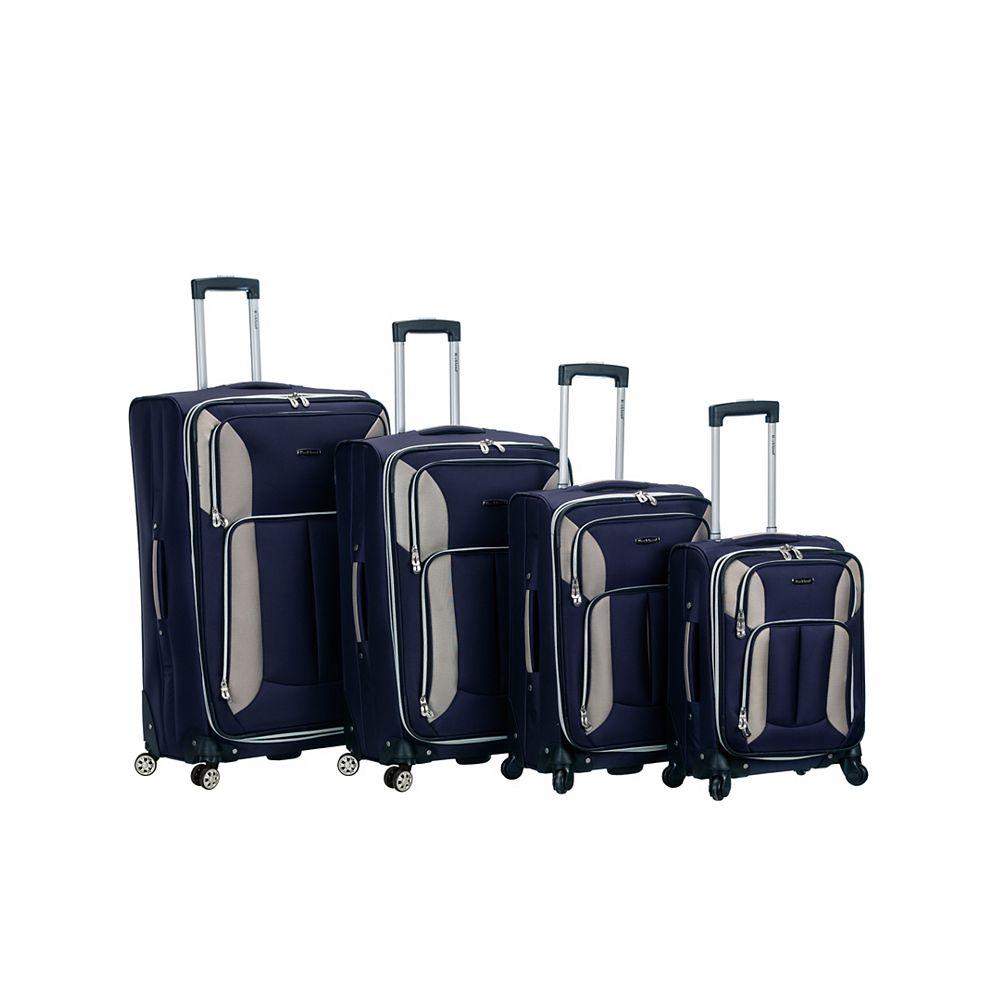 Rockland Imapct Spinner Softside Luggage Set, Navy