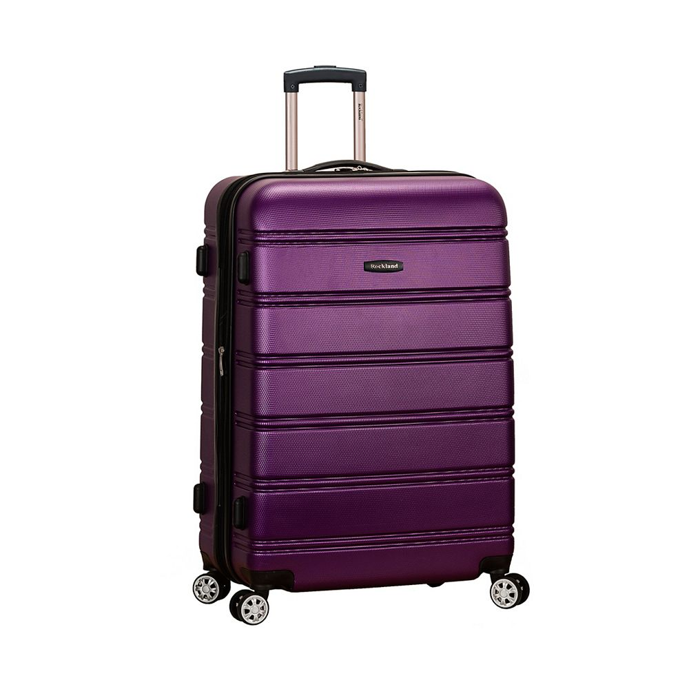 Rockland Melbourne 28 in. Hardside Luggage, Purple