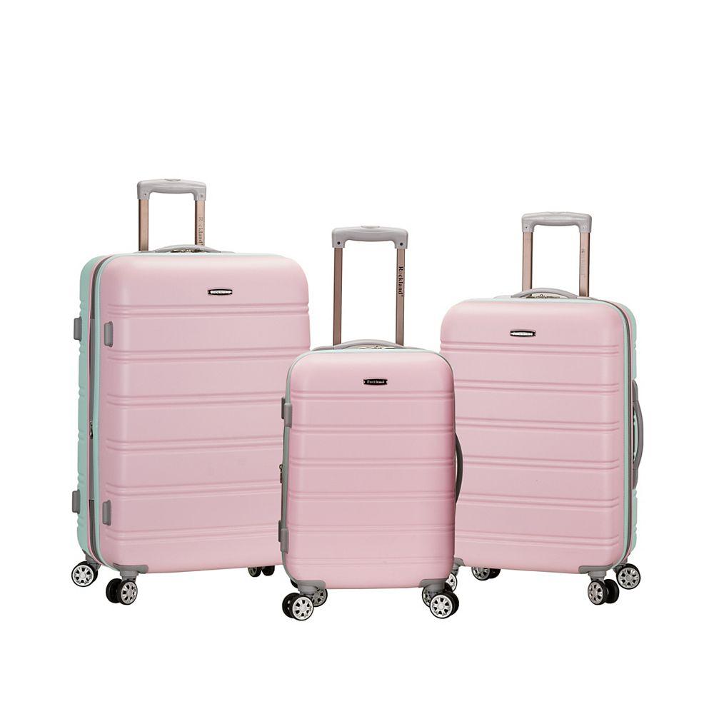 Rockland Melbourne Hardiside 3-Piece Luggage Set, Mint