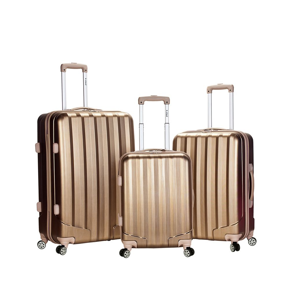 Rockland Metallic Hardside Luggage Set, Bronze