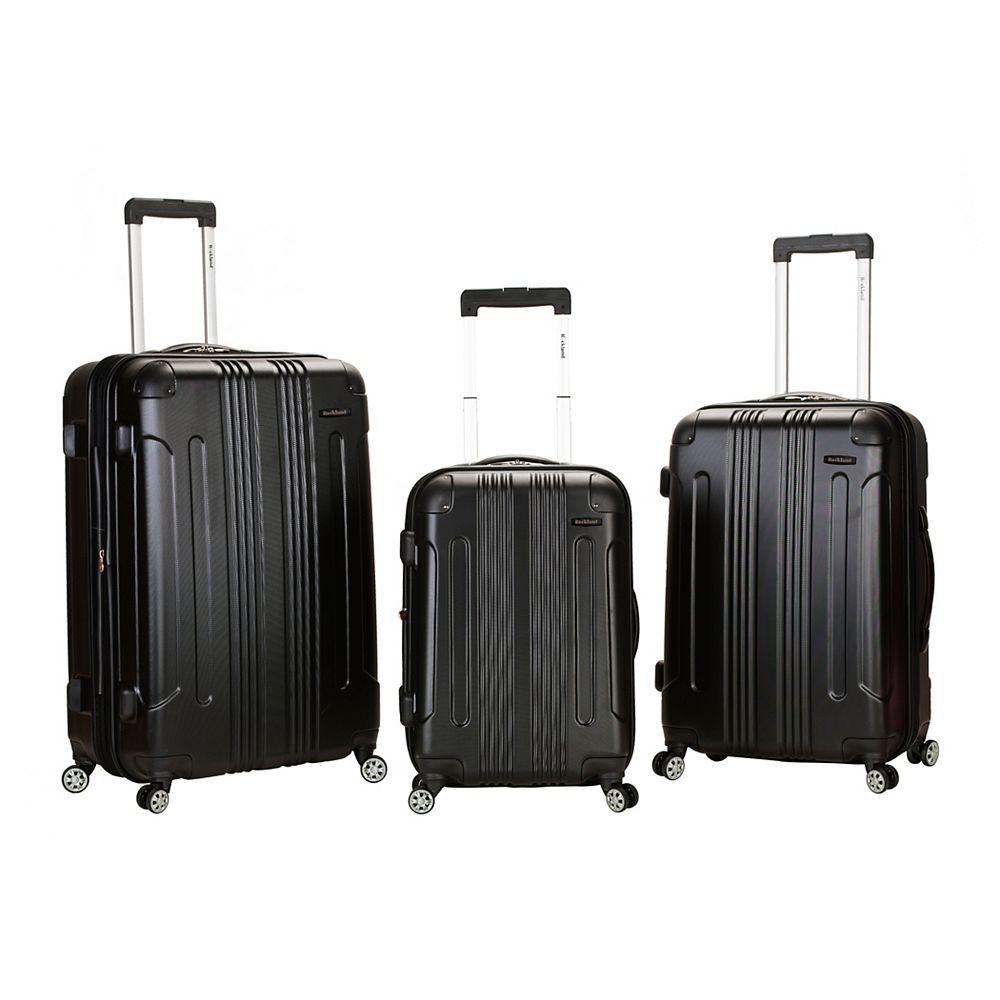 Rockland Sonic Hardside Luggage Set, Black