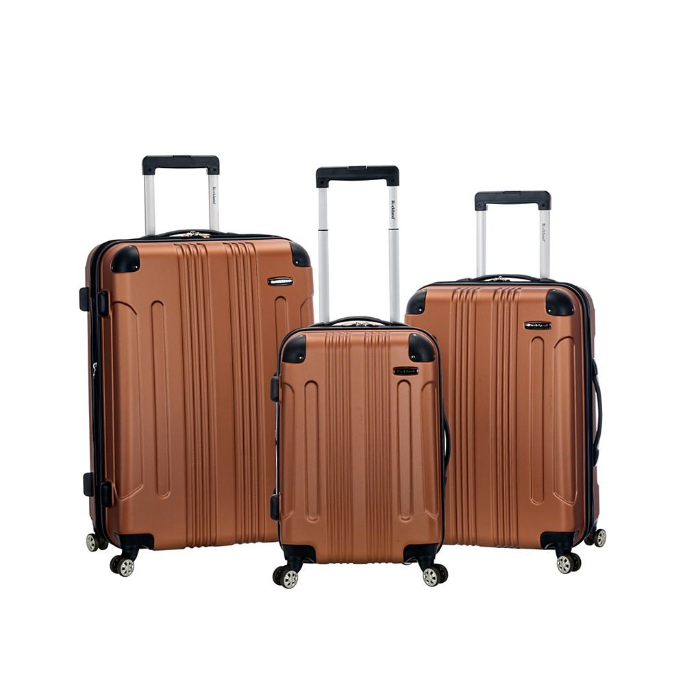 Rockland Sonic Hardside Luggage Set, Brown
