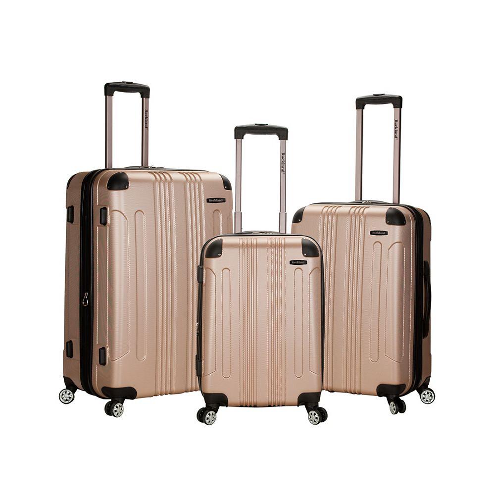 Rockland Sonic Hardside Luggage Set, Champagne