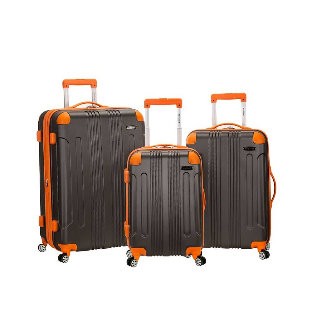 Rockland Sonic Hardside Luggage Set, Charcoal
