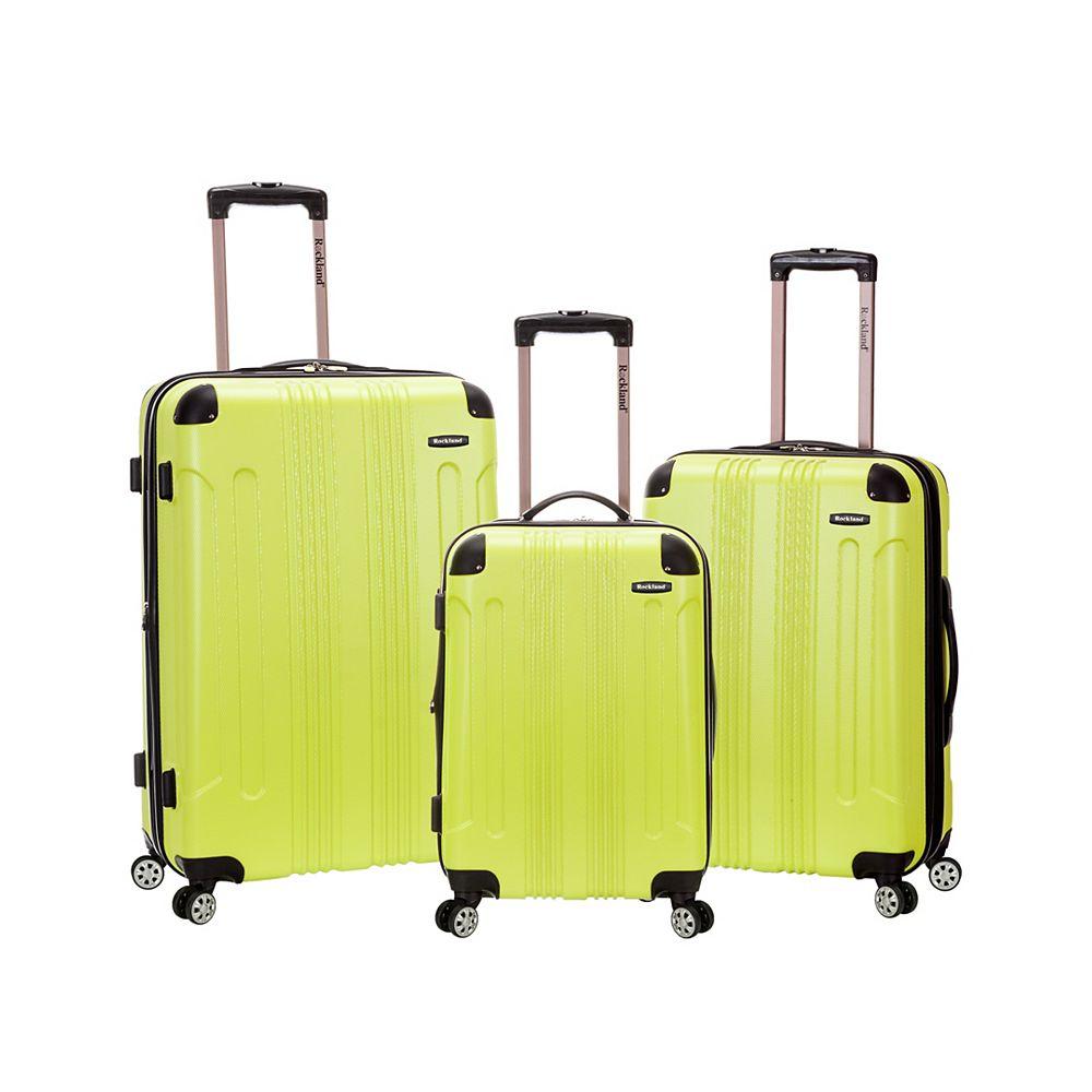 Rockland Sonic Hardside Luggage Set, Lime