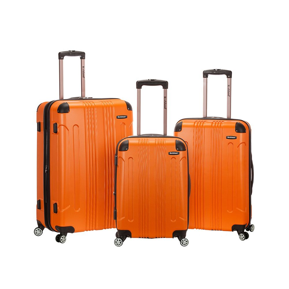 Rockland Sonic Hardside Luggage Set, Orange