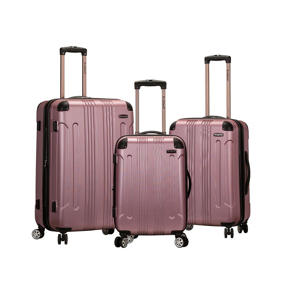 Rockland Sonic Hardside Luggage Set, Pink