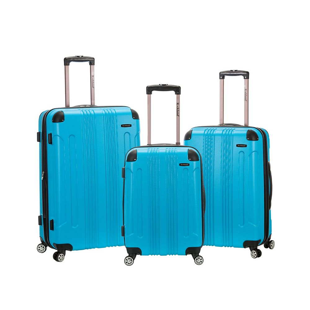 Rockland Sonic Hardside Luggage Set, Turquoise