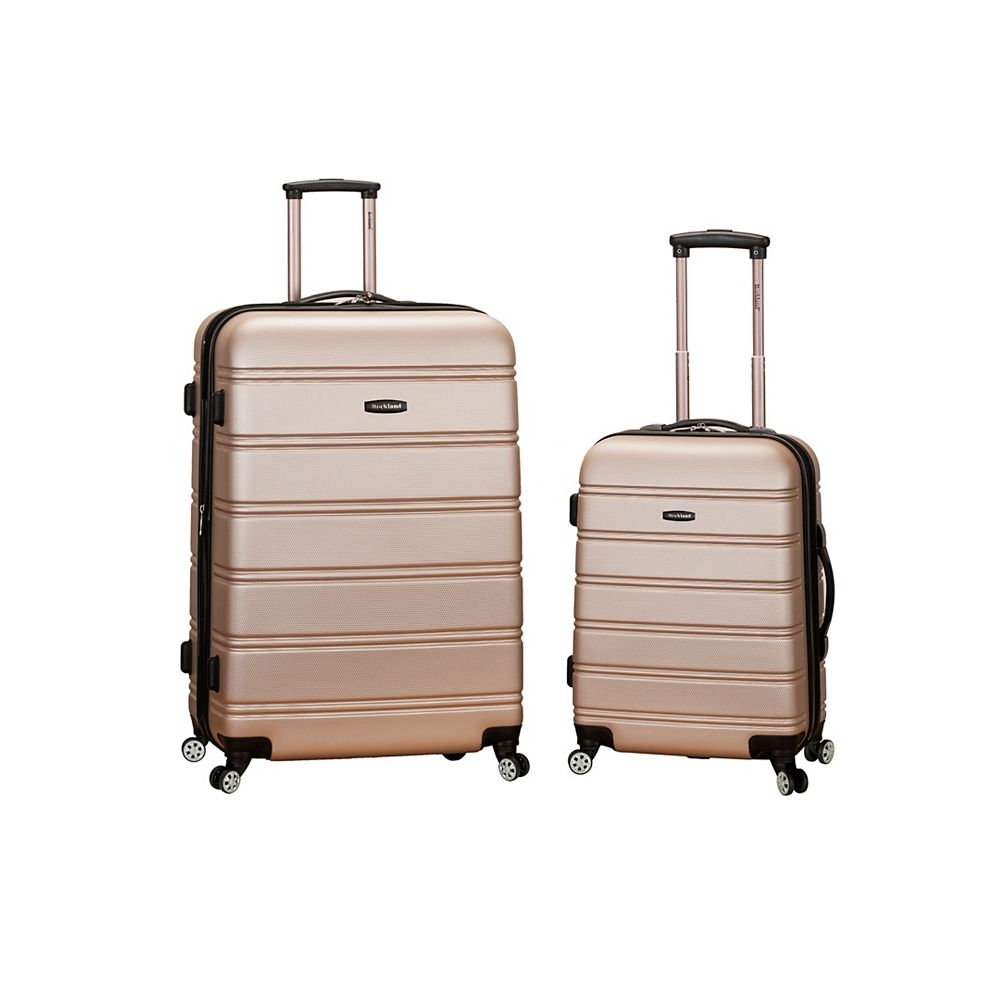 Rockland Melbourne Hardiside  2-Piece Luggage Set, Champagne