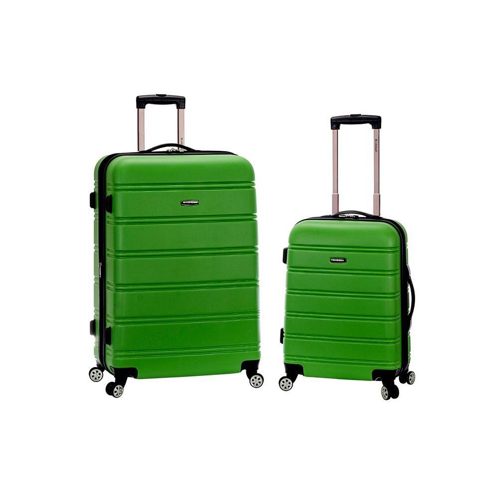 Rockland Melbourne Hardiside Luggage Set, Green
