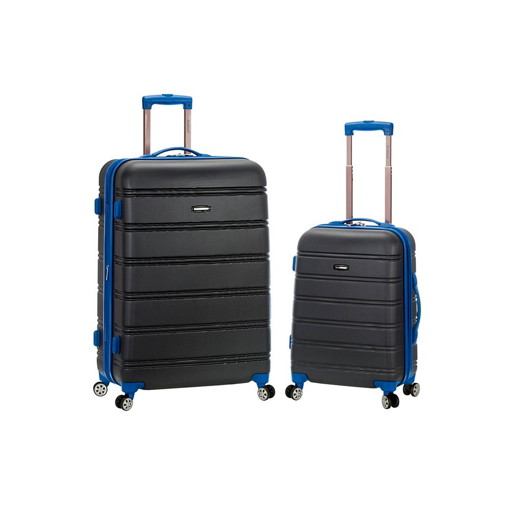 Rockland Melbourne Hardiside Luggage Set, Grey