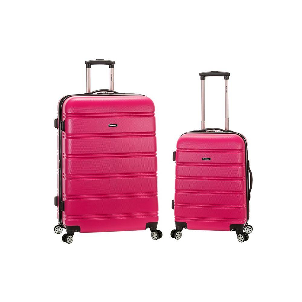 Rockland Melbourne Hardiside  2-Piece Luggage Set, Magenta