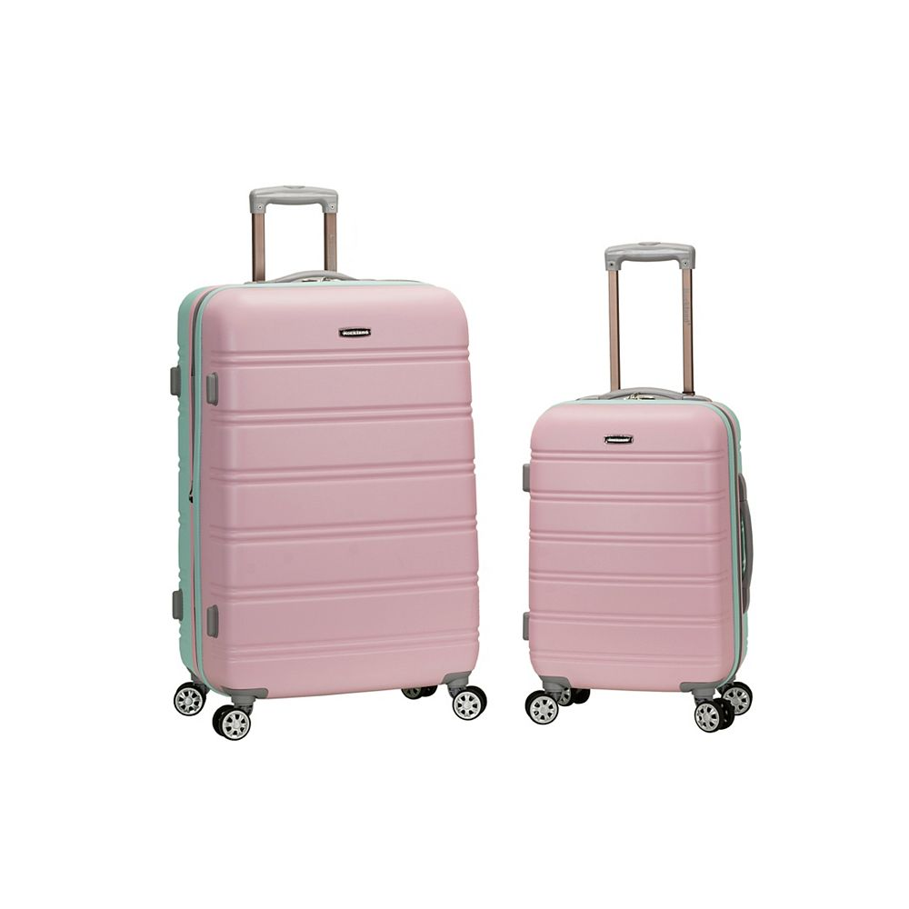 Rockland Melbourne Hardiside  2-Piece Luggage Set, Mint