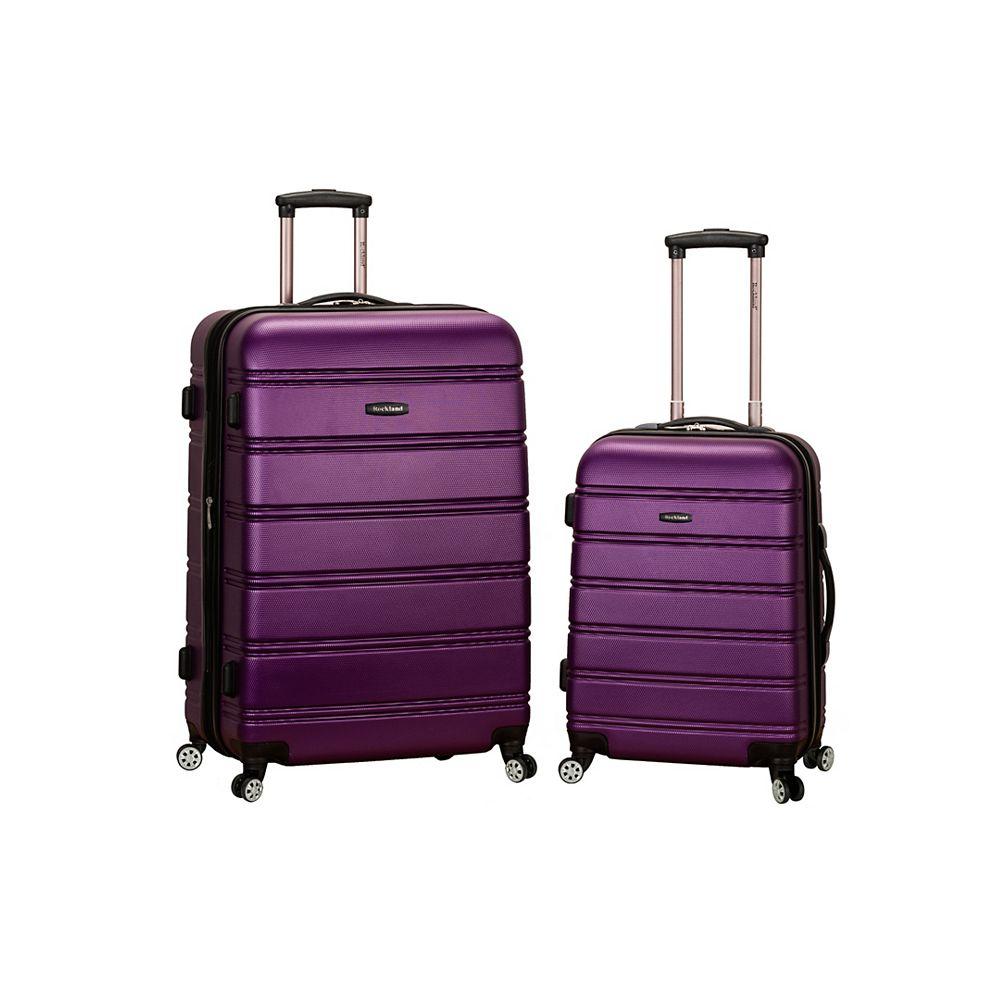 Rockland Melbourne Hardiside  2-Piece Luggage Set, Purple
