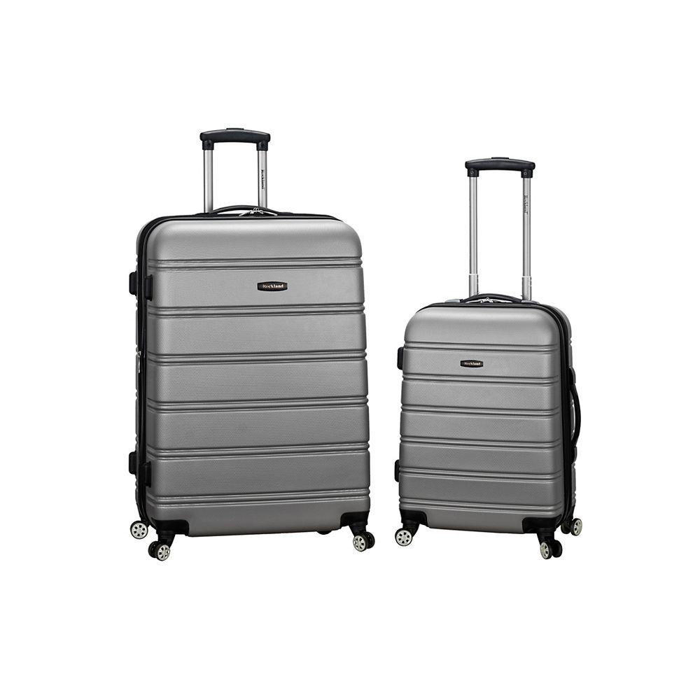 Rockland Melbourne Hardiside 2-Piece Luggage Set, Silver
