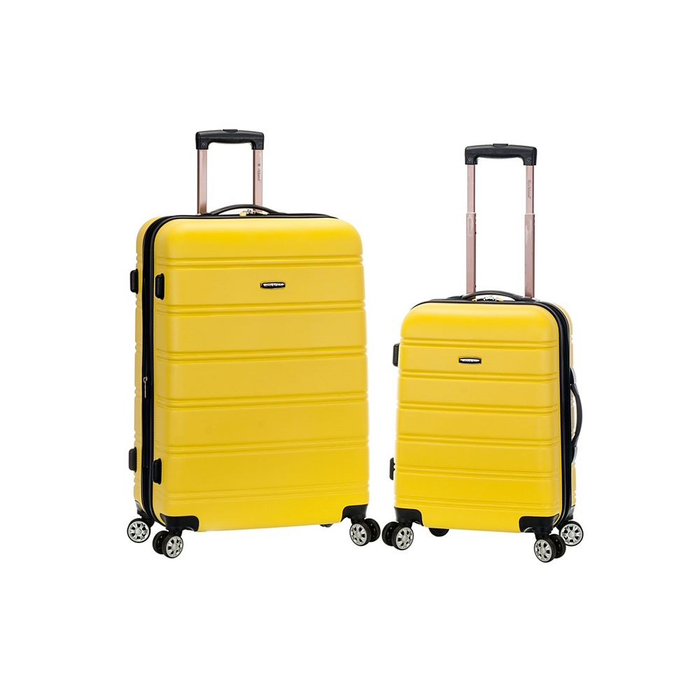 Rockland Melbourne Hardiside  2-Piece Luggage Set, Yellow