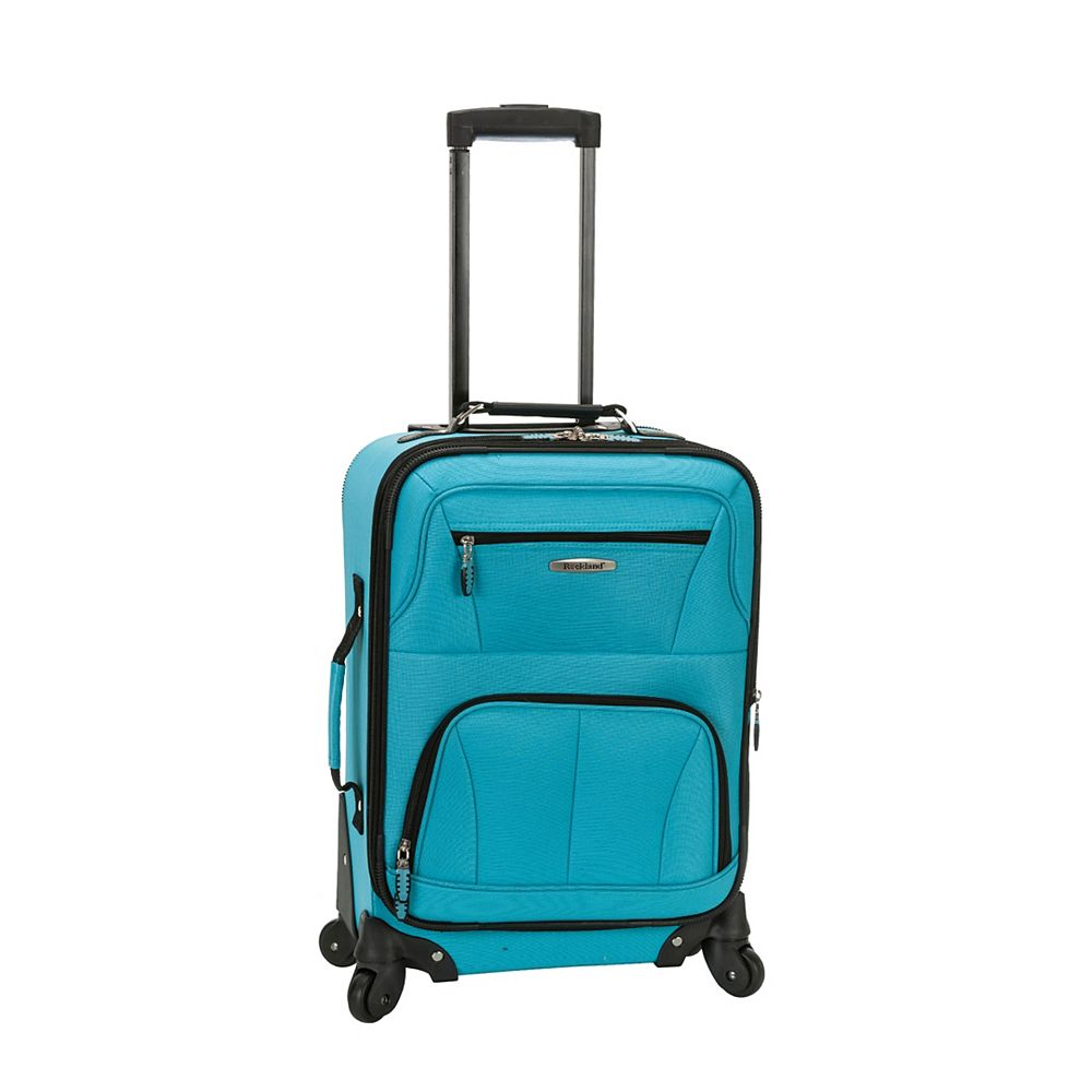 Rockland Pasadena Softside Carry-on, Turquoise