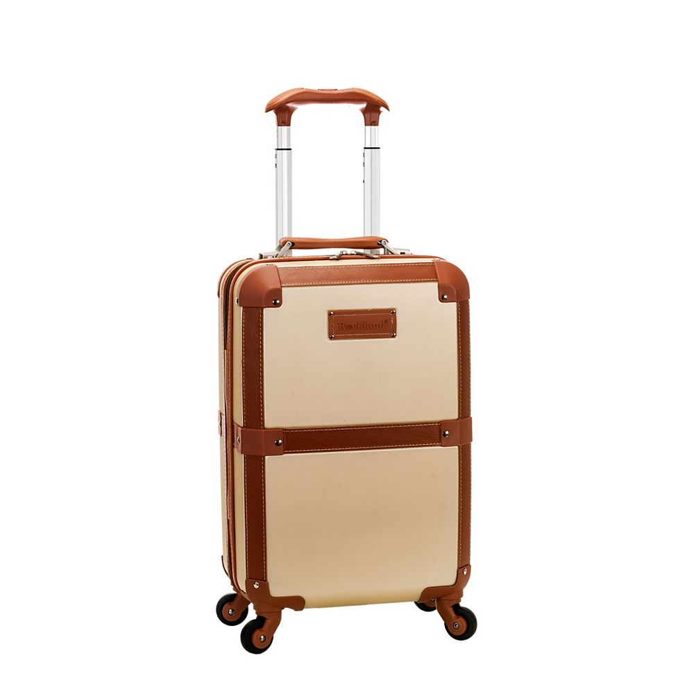 Rockland Stage Coach 20 in. Rolling Trunk, Champagne