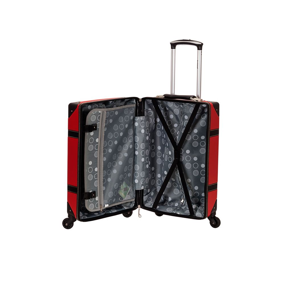 Rockland Stage Coach 20 in. Rolling Trunk, red