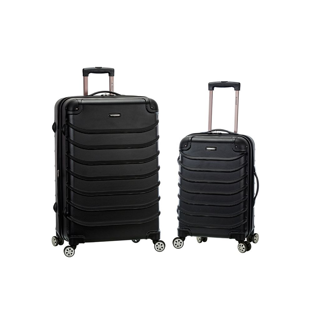Rockland Expandable Speciale 2-Piece Hardside Spinner Set, Black