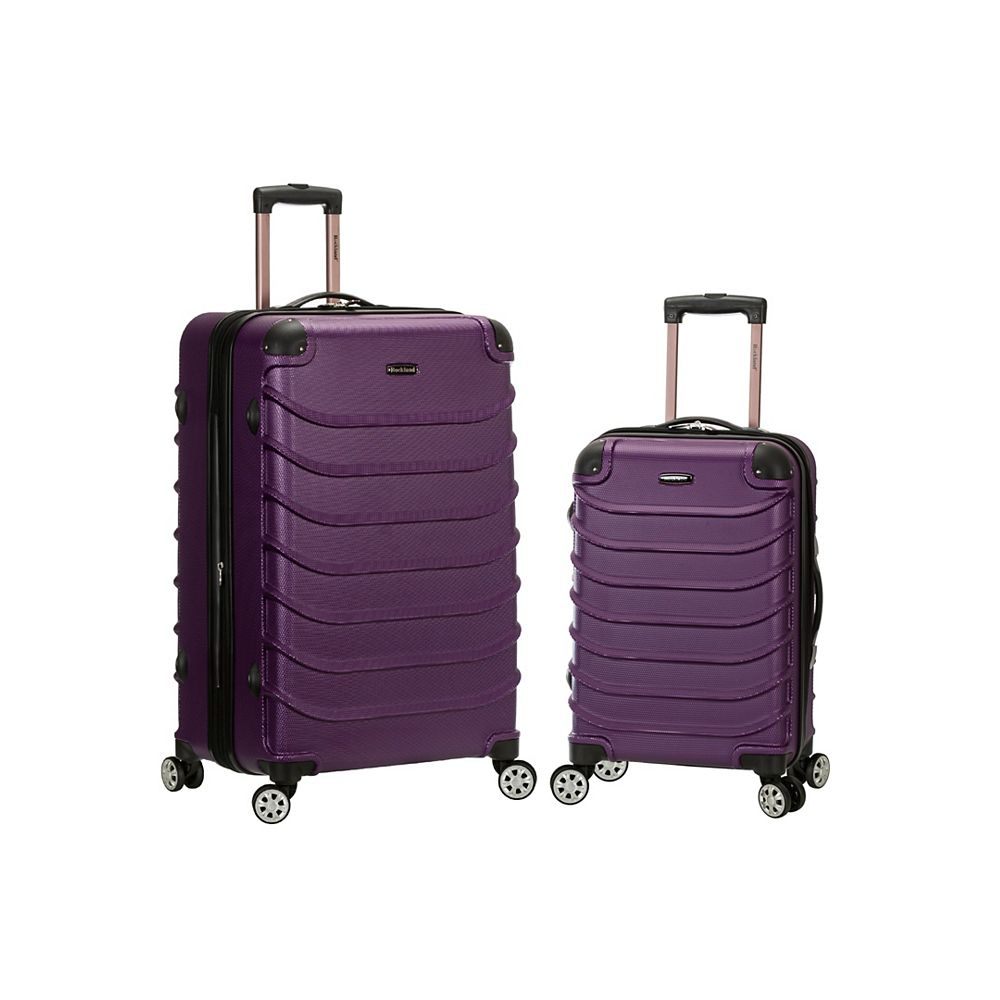 Rockland Expandable Speciale 2-Piece Hardside Spinner Set, Purple