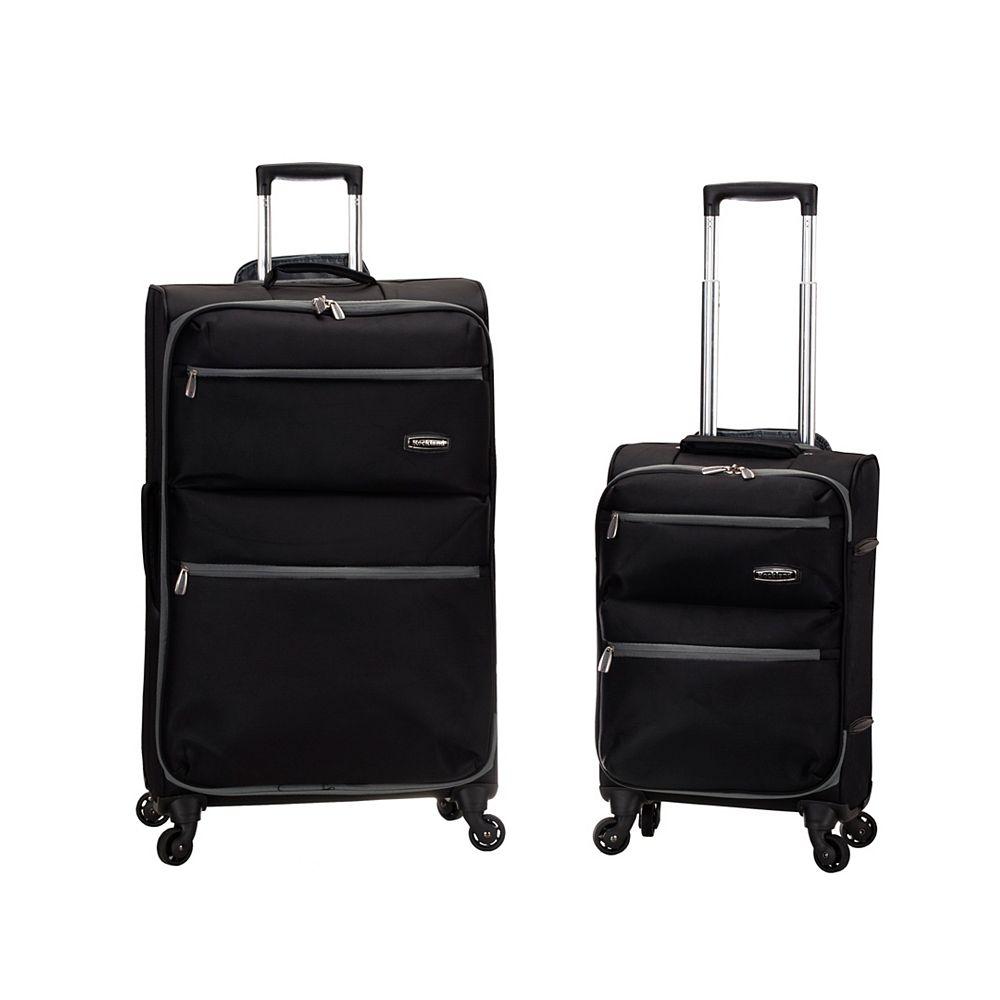 Rockland Gravity 2-Piece Light Weight  Hardside Luggage Set, Black