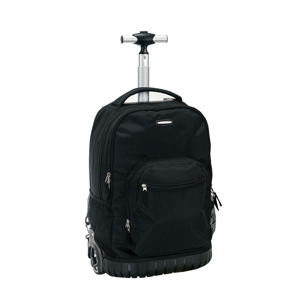 Rockland Sedan 19 in. Rolling Backpack, Black